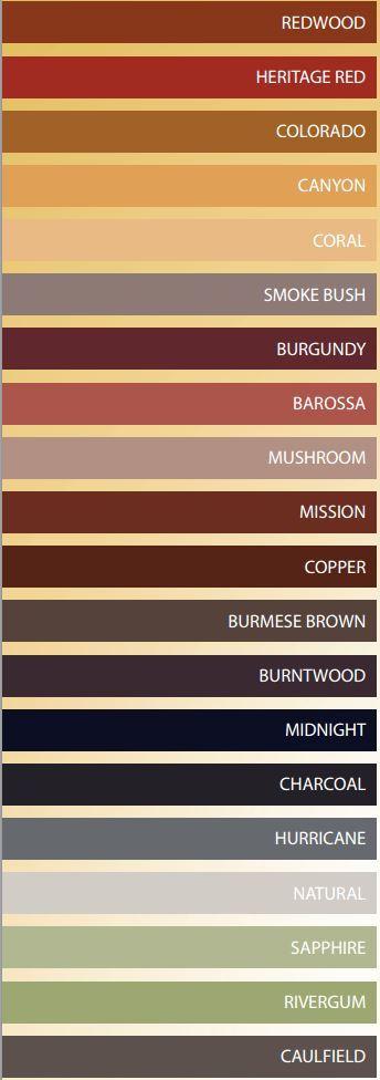 ridgebond-colours